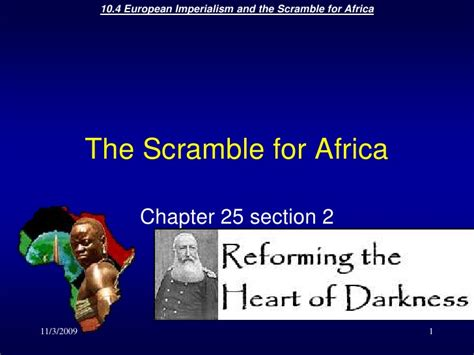 the scramble for africa chapter 11 section 1 the scramble for africa