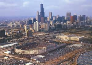 Inexpensive Wall Murals chicago old soldier field aerial photo poster picture