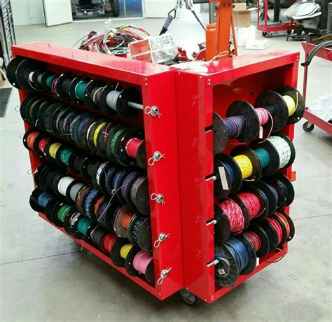 wiring cart   garage organization shop storage garage shop