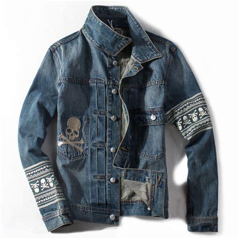 Gap Branded Denim Jacket new dropshipping brand clothing mens hip hop jacket skull patterns cotton casual denim jacket