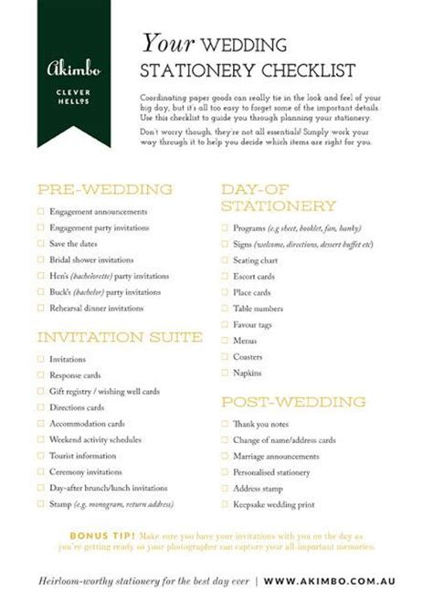 wedding invitation checklist template your wedding stationery checklist paperblog