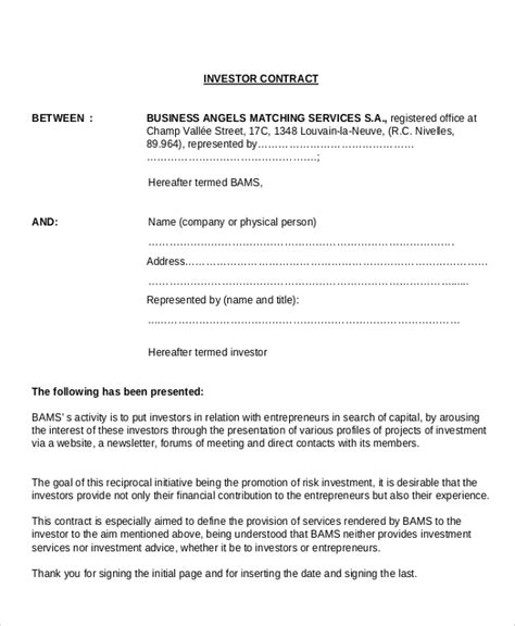 Agreement Letter For Business Sle Business Agreement Contract 8 Documents In Pdf