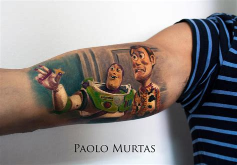 buzz lightyear amp woody tattoo best tattoo design ideas