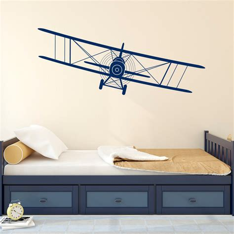 Biplane Decal Airplane Wall Decals Plane Stickers Nursery Airplane Wall Decals For Nursery