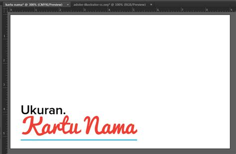 cara membuat kartu nama menggunakan adobe illustrator membuat ukuran kartu nama di adobe illustrator