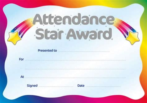 search results for printable perfect attendance