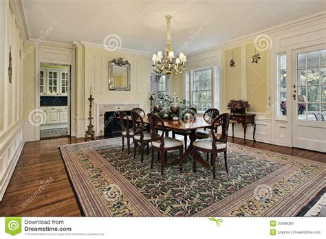 Large Dining Room With Fireplace Large Dining Room With Fireplace Stock Image Image 20496381