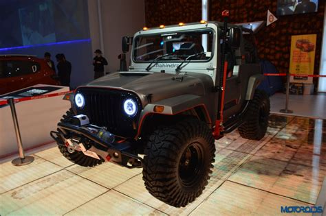 mahindra jeep thar modified 2016 auto expo this modified mahindra thar looks like an