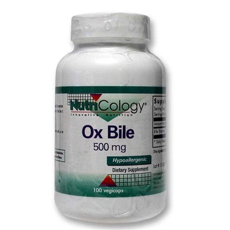 Ox Bile Detox by Nutricology Ox Bile 500 Mg 100 Capsules Evitamins India