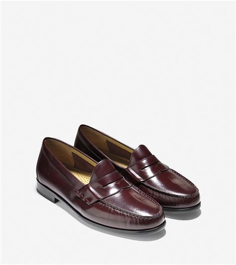 cole han loafers cole haan ascot loafer in purple for lyst