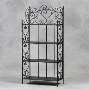 Home 187 curlicue wrought iron shelving unit