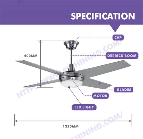 ceiling fans with temperature controls 52 quot outdoor big decorative led light ceiling fan with