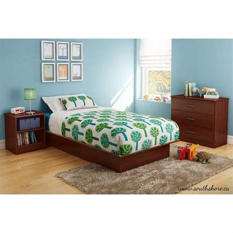 south shore bedroom furniture south shore libra 3 piece kids bedroom set in royal cherry