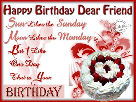 Happy Birthday Dear Quotes Happy Birthday Wishes For Friend Wishing You A Very
