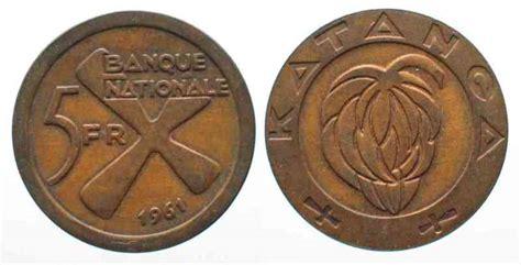 Koin Koleksi Katanga 1 5 Francs 1961 2 Bronze Coins Set 1961 katanga katanga 5 francs 1961 bronze xf 66316 au moneda