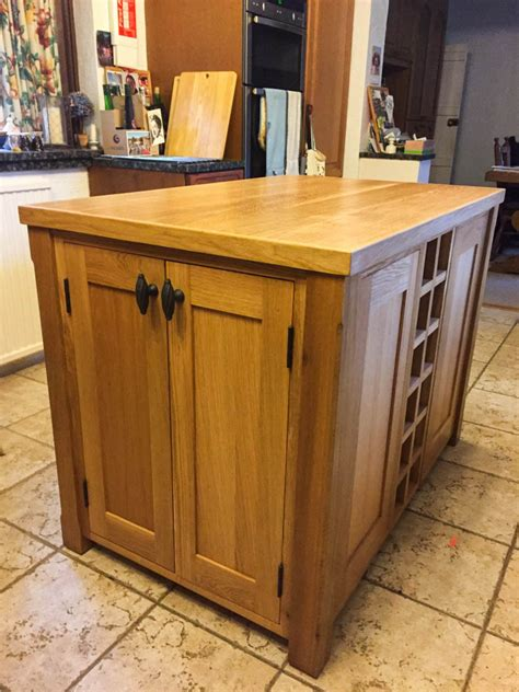 oak kitchen islands kitchen island unit made from solid oak