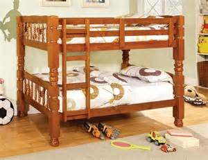 oak bunk bed cm2527oak carolina bunk bed in oak