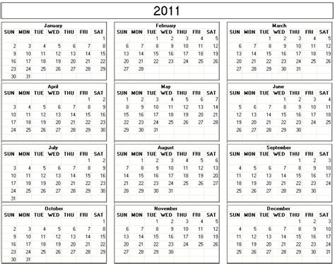 2011 calendar template 2011 yearly calendar printable one page search results