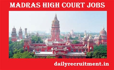 Madras High Court Search Madras High Court Recruitment 2017 Sweeper Sanitary Worker Application Form