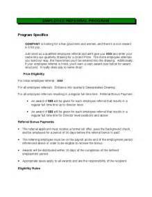 referral program template employee referral program template best template idea