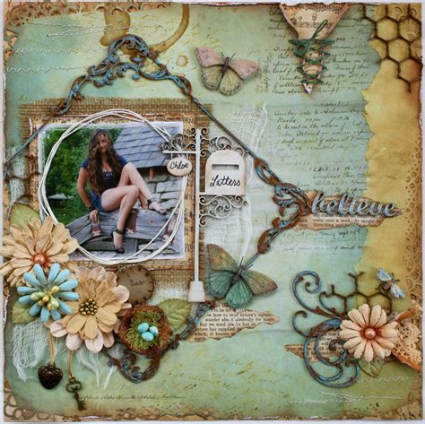 scrapbook layout magazine such a pretty mess another layout in australian scrapbook