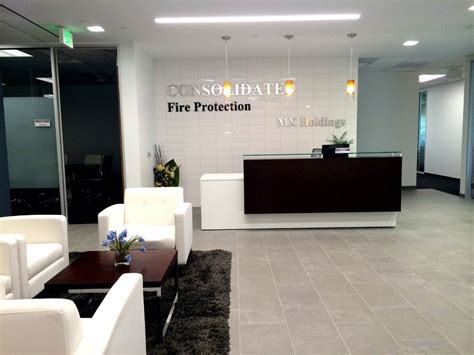 lobby reception area consolidated fire protection