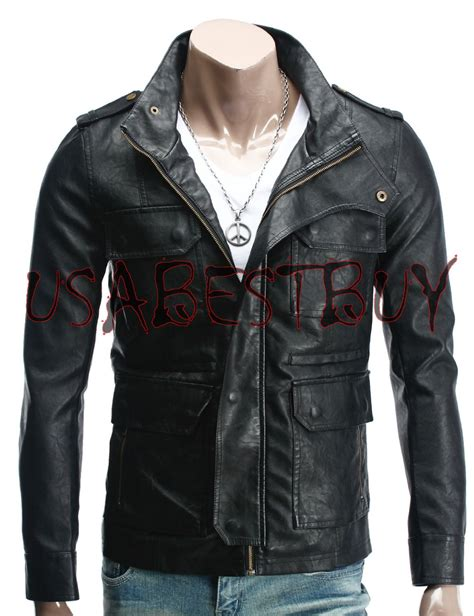 Handmade Leather Clothing - handmade new style pockets bomber leather