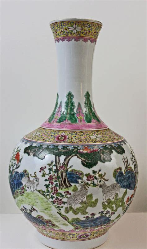Qianlong Vase by A Large Porcelain Vase Famille Pattern