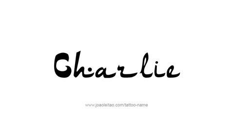 charlie tattoo designs name designs