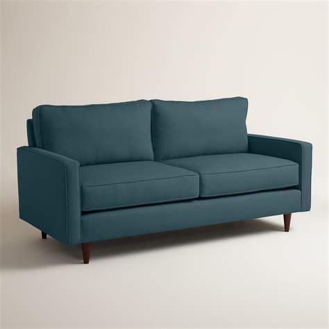 world market settee textured woven nashton upholstered sofa world market