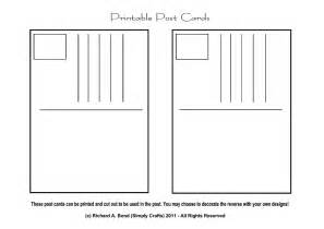 Printable Postcard Template by Simply Crafts May 2011