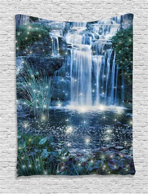home decor waterfalls waterfall tapestry wall hanging magic fairy cascade home decor ebay