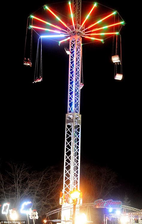 winter wonderland swing children trapped 65ft in the air on cardiff winter