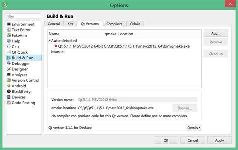 tutorial qt windows visual c qt creator 2 8 1 msvc 2013 express no