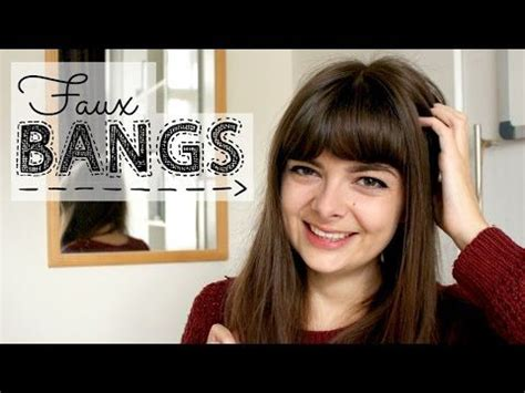 how to create fake bang how to create faux bangs with only two bobbypins video by
