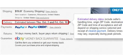 ebay delivery how accurate are ebay s estimated delivery dates