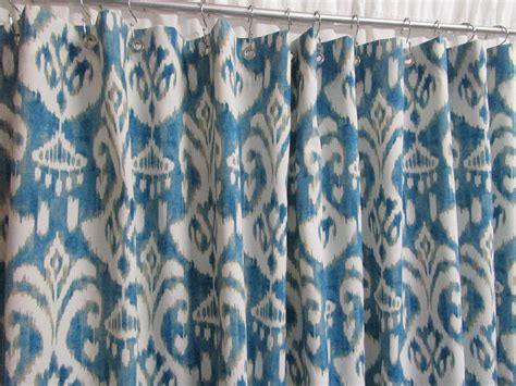 blue ikat shower curtain ikat shower curtain trendy blue shower curtain blue bathroom