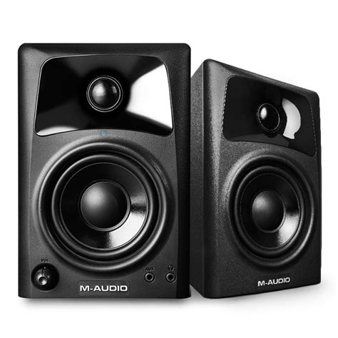 Speaker A Net m audio av32 active desktop monitor speakers pair at