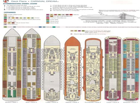 carnival floor plan carnival dream room layout carnival dream deck plan
