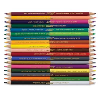 prang colored pencils 22483 1036 prang duo color colored pencils blick