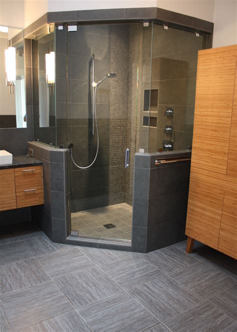corner bath with shower by tile collection inc 183 more info