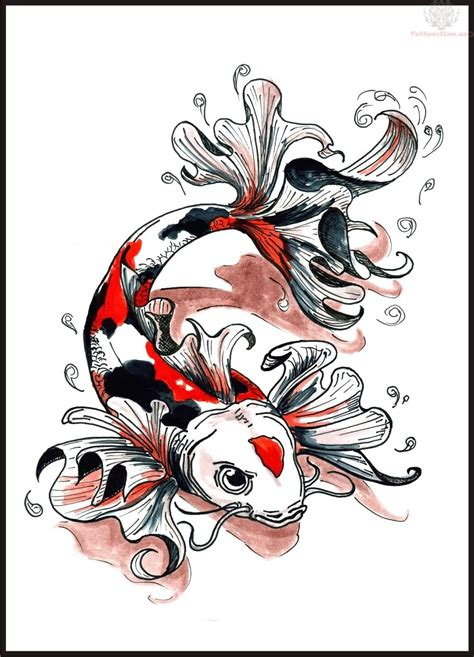 koi fish tattoo drawing design koi fish photos 03 the collectioner