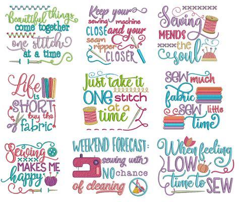 Sewing Sayings Set 2