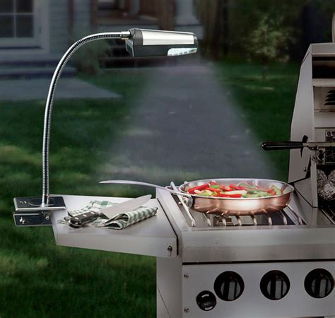 Backyard Grill How To Light Cordless Stainless Steel Grill Light Modern