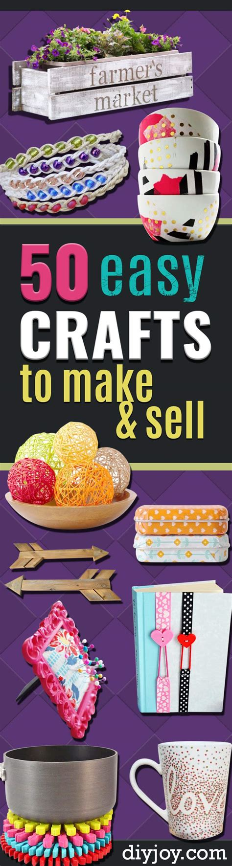 easy crafts for to sell 50 easy crafts to make and sell diy