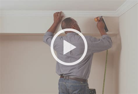 home depot crown molding for cabinets how to install crown moulding at the home depot