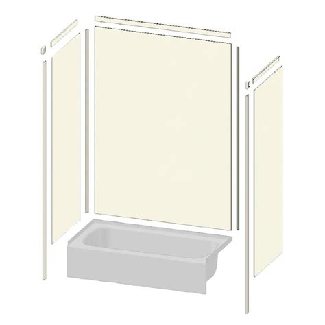 Shop Transolid Decor White Shower Wall Surround Side And