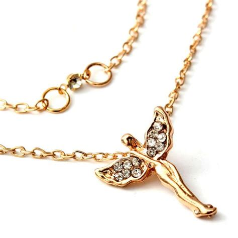 Rhinestone Wing Necklace buy rhinestone wings chain pendant necklace