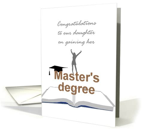 Congratulations Mba Graduation by Achieving Master S Degree Congratulations Card