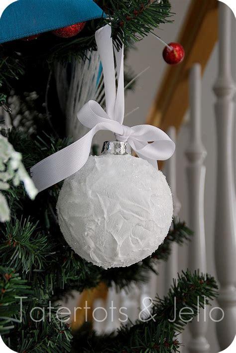 snow ball ornaments homemade christmas decor the scrap